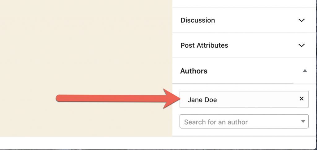 Default Author Choice