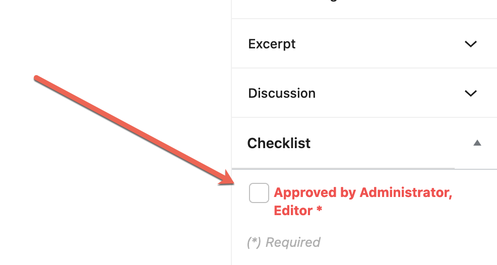 Disabled Checkbox User Role