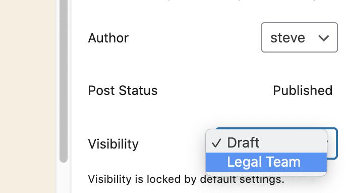 Draft Locked