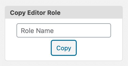 Editor Role