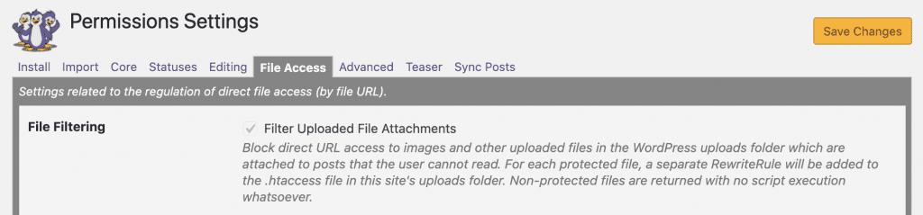 Filter Uploaded File