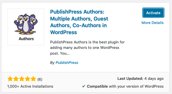 Install Authors