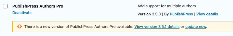 Publishpress Authors Update