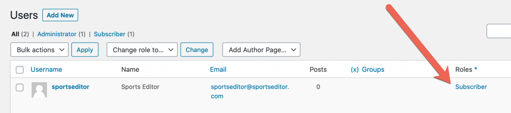 Sports Editor Link