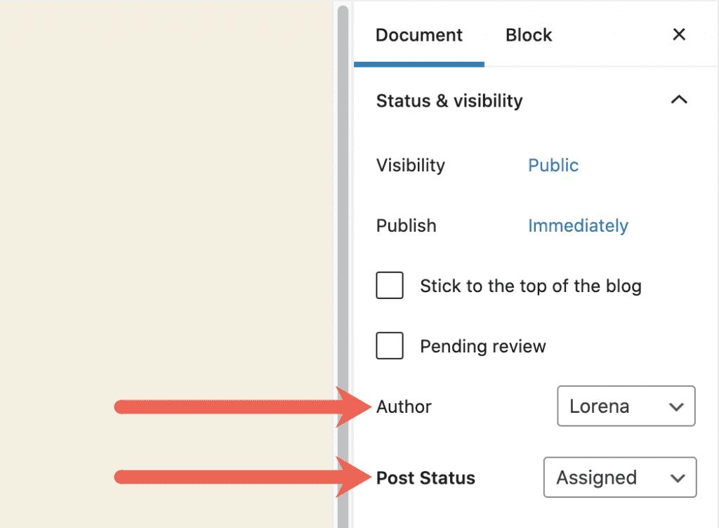 Author Post Status