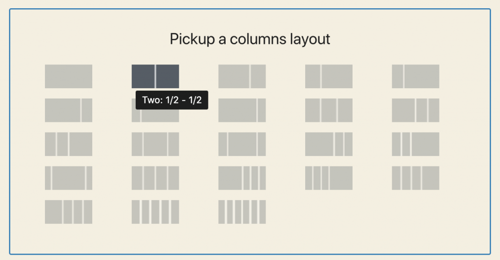 Columns Manager Layouts 1