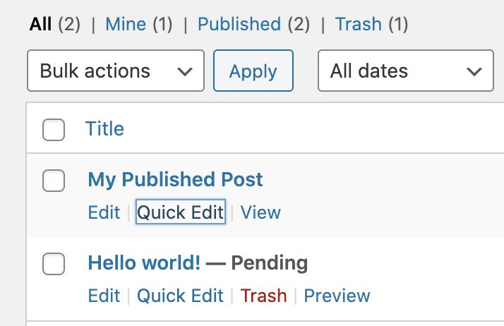 Delete Published Vs Pending 1
