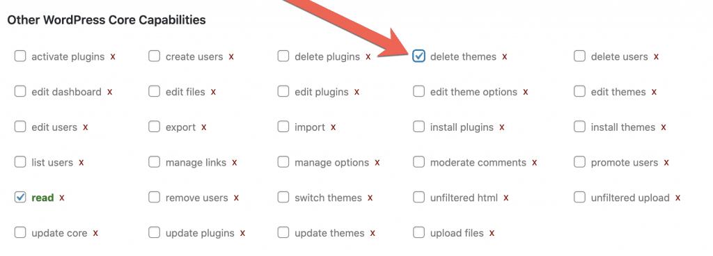 Delete Themes Box