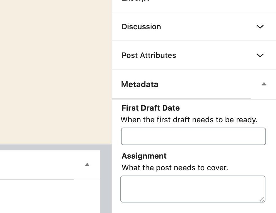Edit Metadata