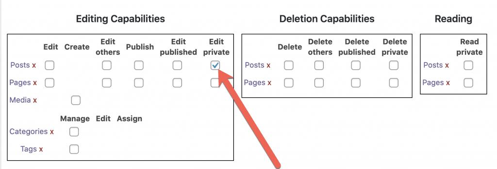Edit Private Post Box