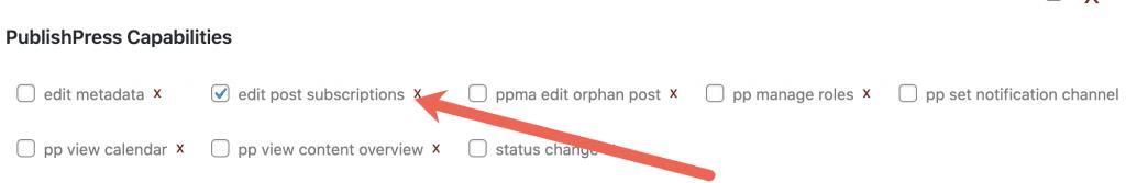 Edit Post Subscriptions