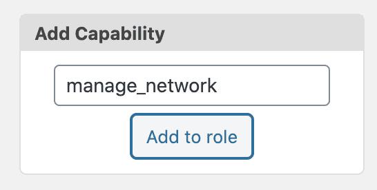 Manage Network Add
