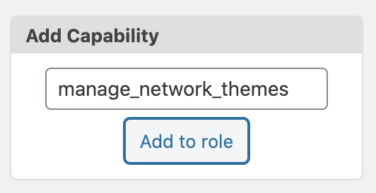 Manage Network Themes Add