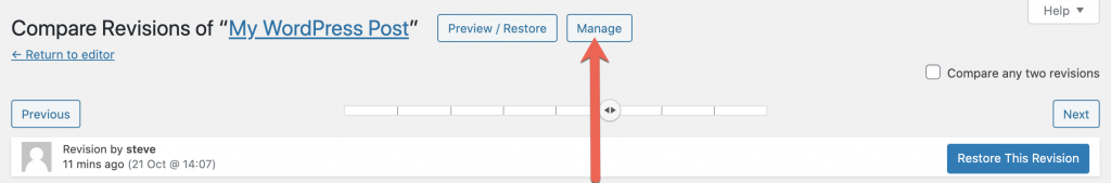 Manage Revisions 1