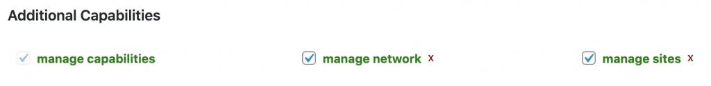Manage Sites List Box