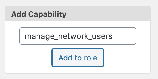 Manage Network Users