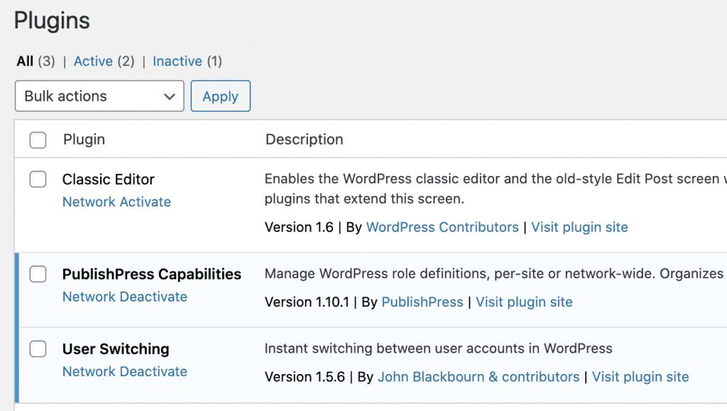 Multisite Plugin Manage