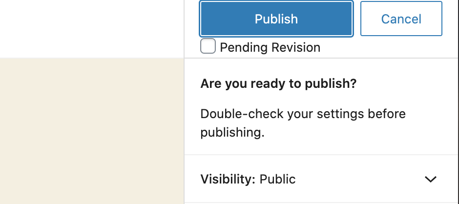 Pending Revision Checkbox