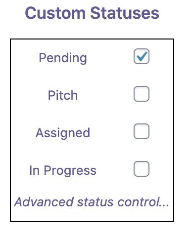 Pending Status