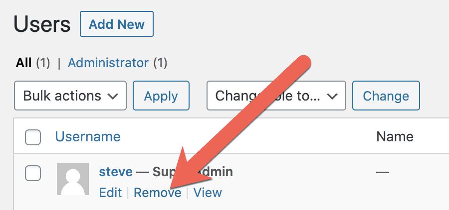 Remove Users