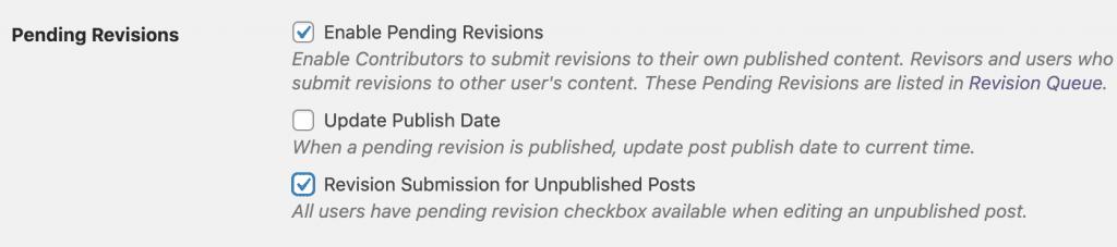 Revision Unpublished