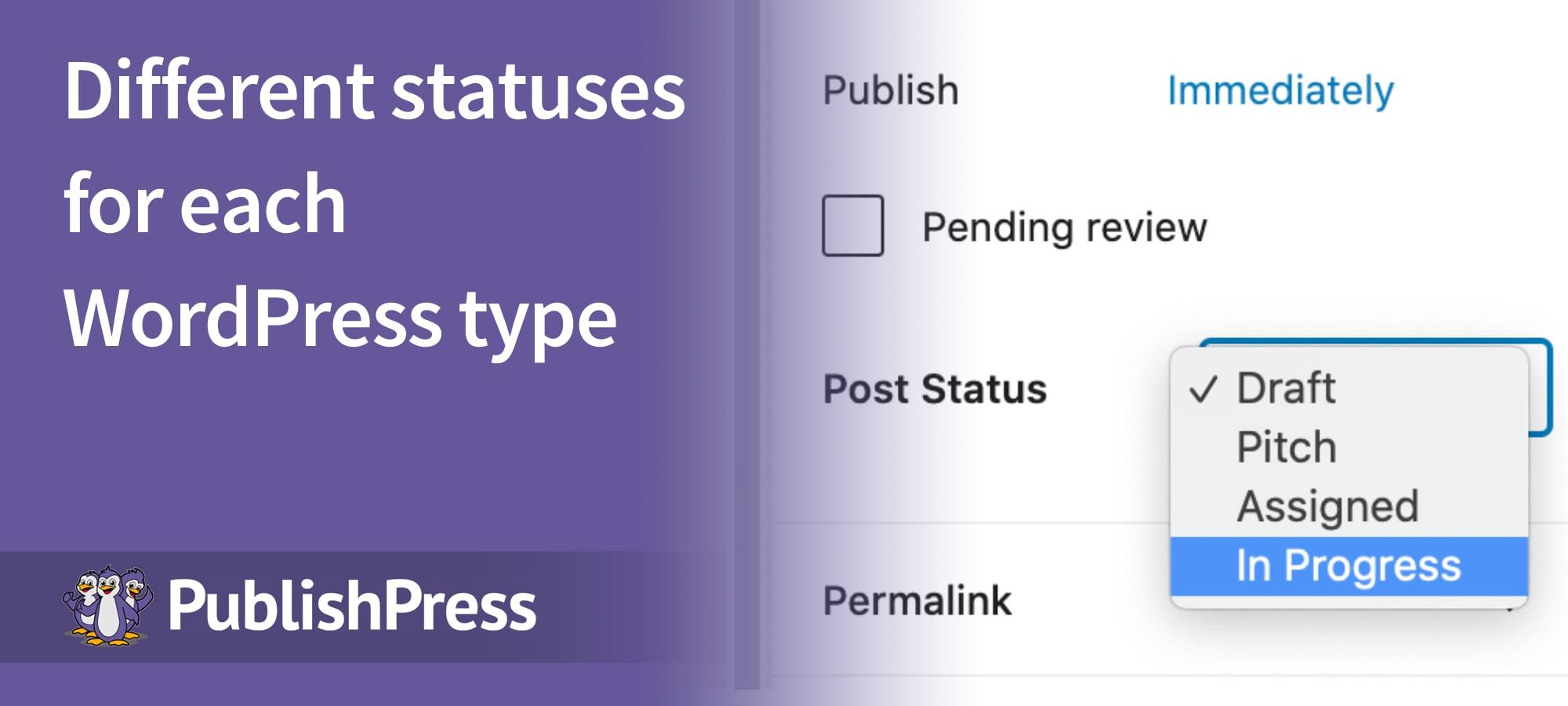 Statuses Per Post Type