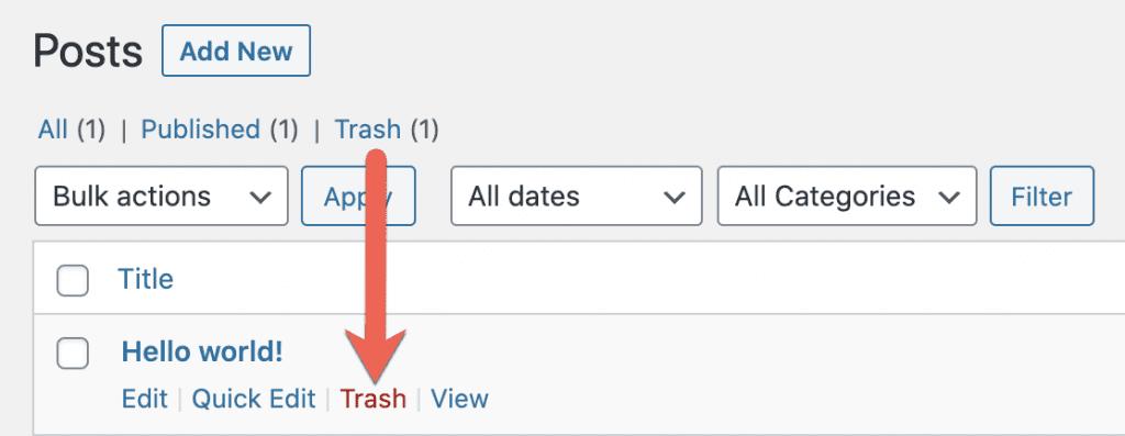 Trash Post