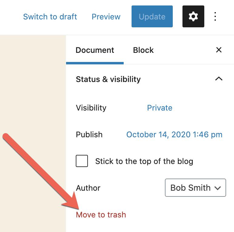 Trash Post Link