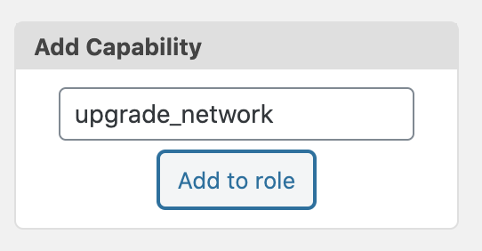 Upgrade Network Add