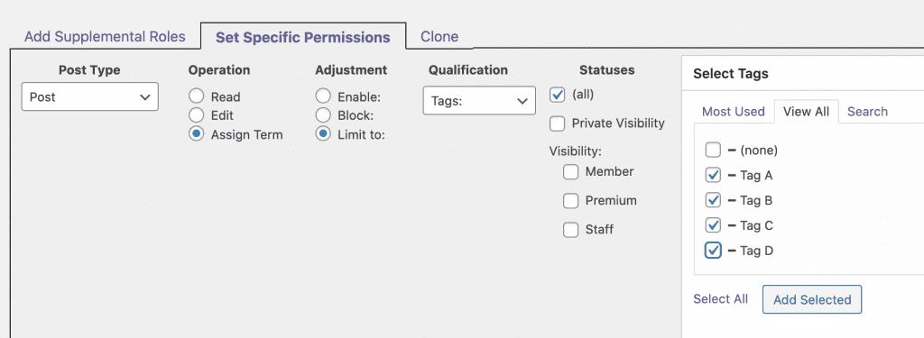 Set Specific Permissions