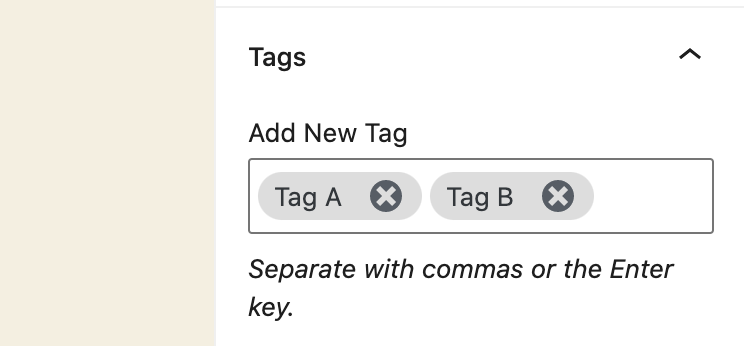Tags Removed