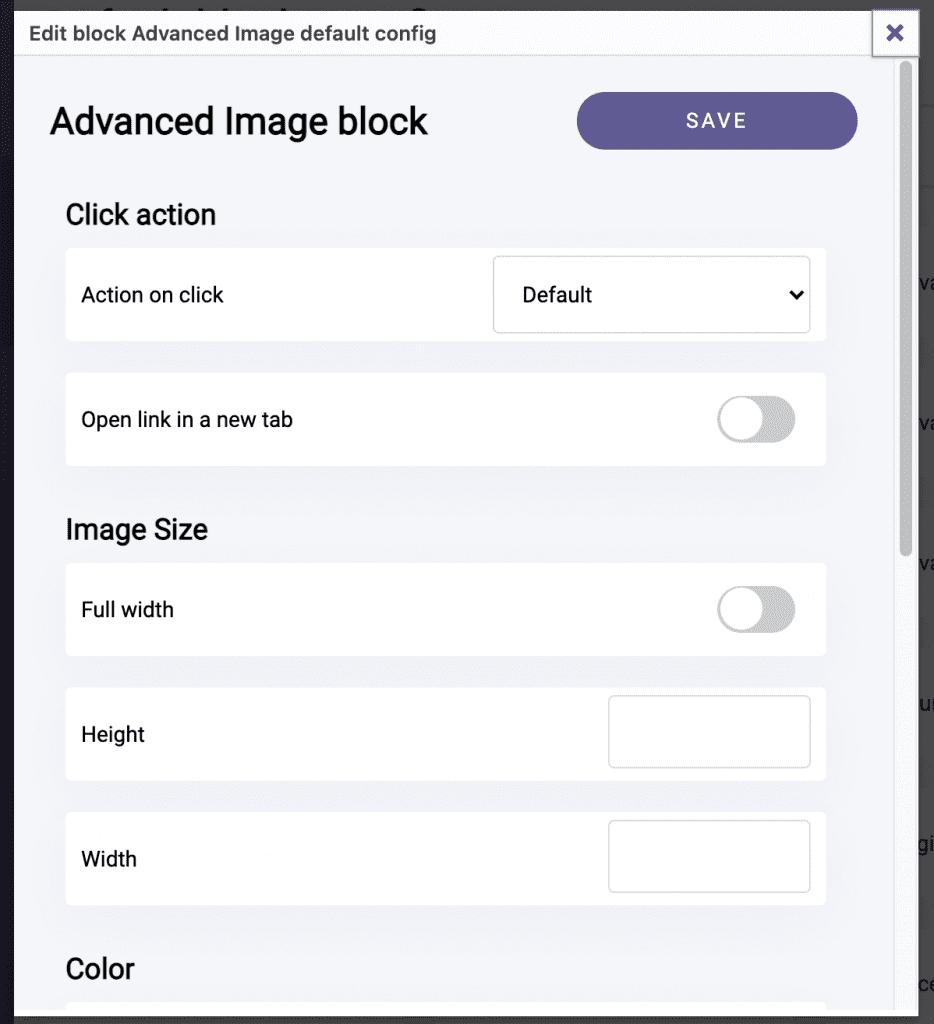 Advanced Image Blocks