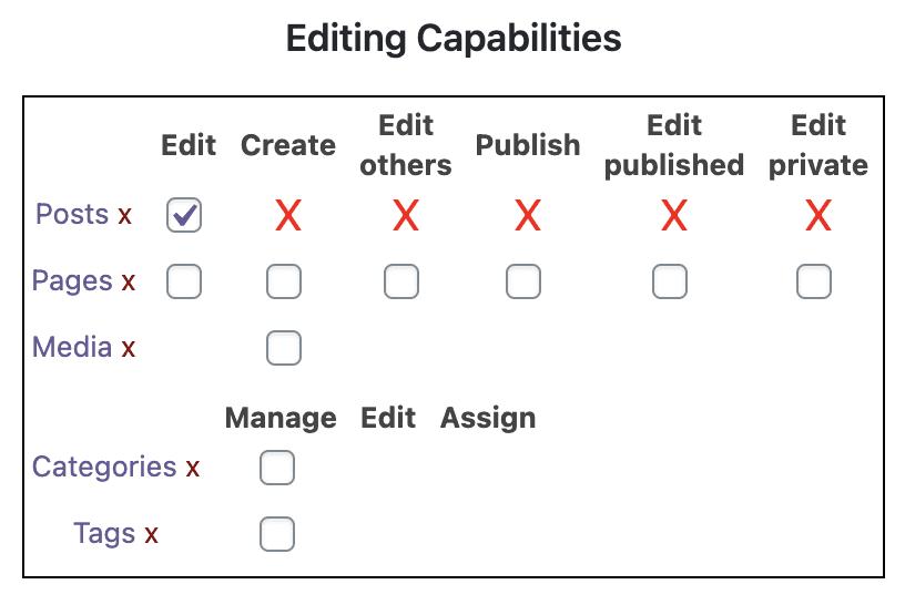 Editing Capbilities