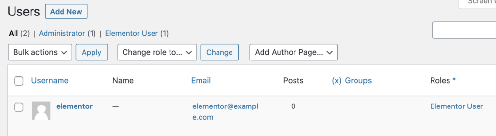 Elementor Account