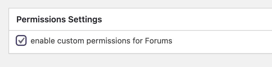 Forum Permissions