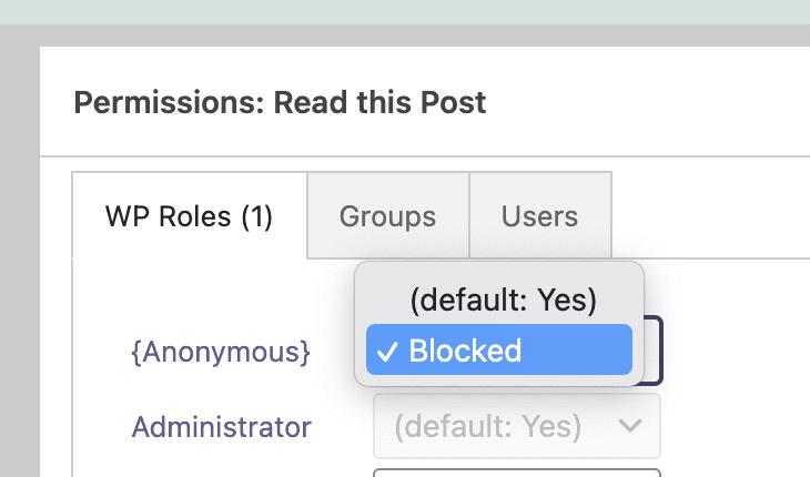 Read Post Blocked
