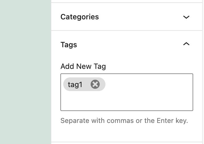 Tag Added Admin