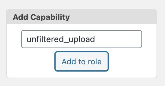 Unfiltered Upload