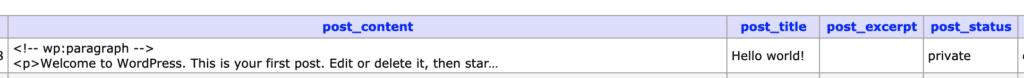 Wp Posts Status