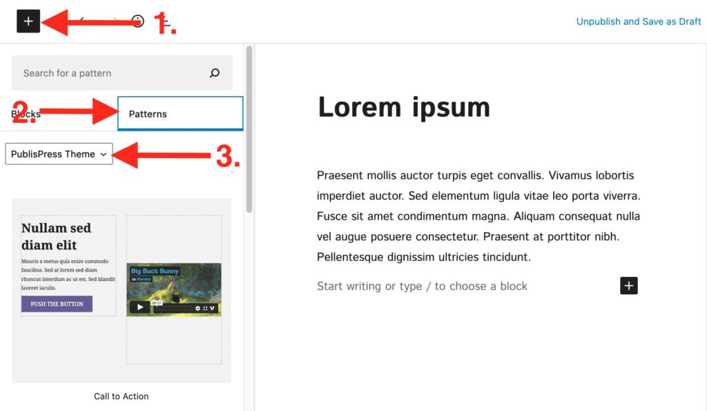 PublishPress Theme block patterns