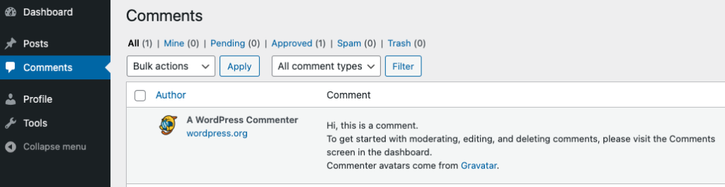 Comments Contributor