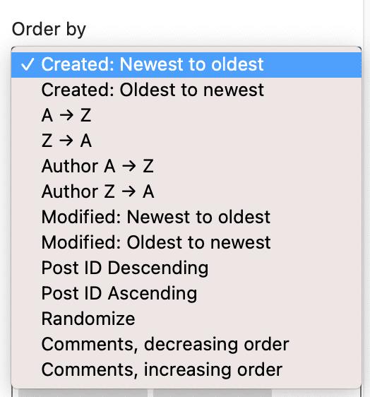 PublishPress Blocks Recent Posts Order By