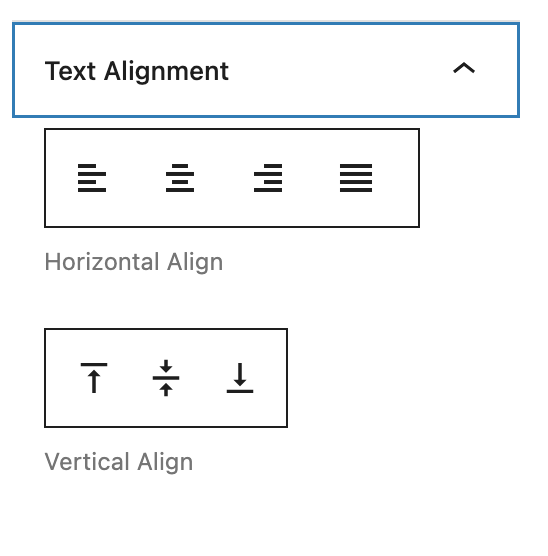 Advanced Table Alignment Settings
