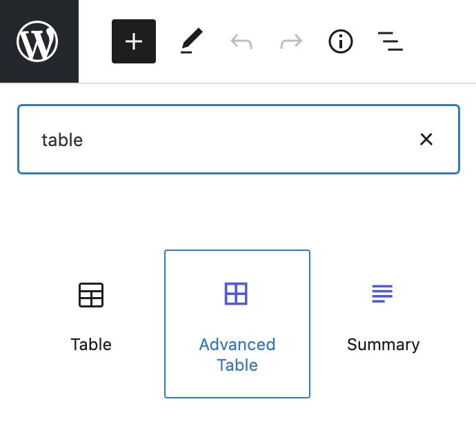 Advanced Table