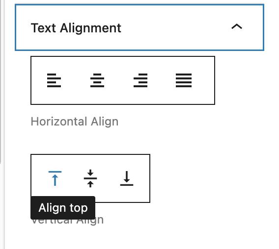Align Top