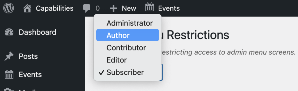 Author Restrictions