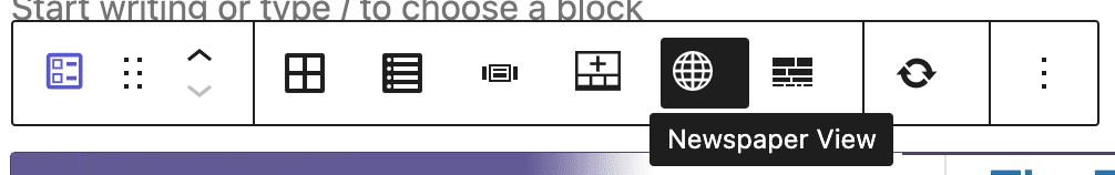Content Dispay Toolbar
