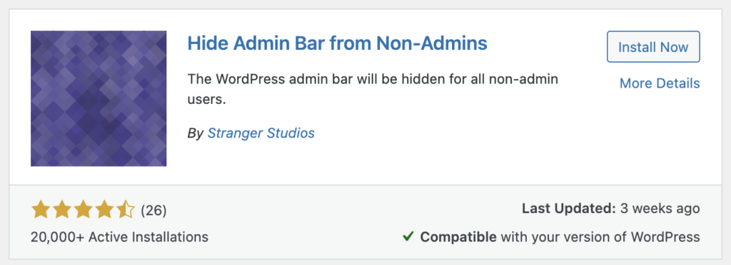 Hide Admin Bar