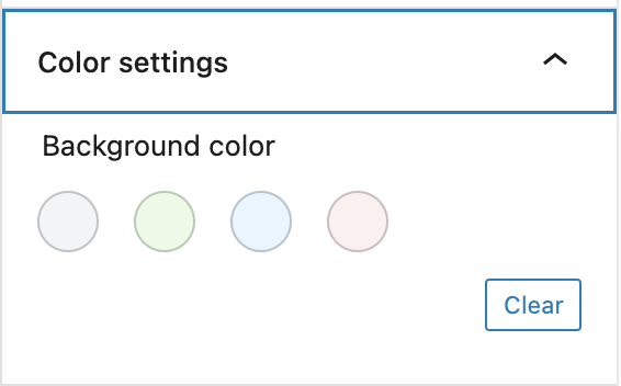 Table Color Settings