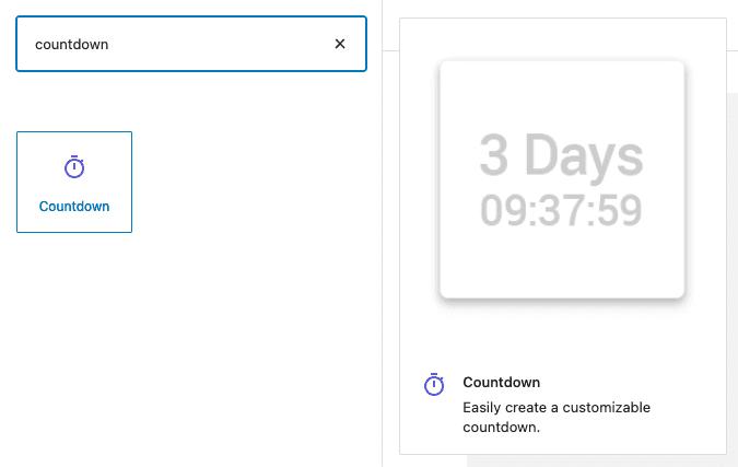 Countdown block